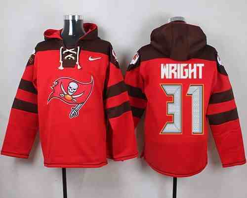 Nike Buccaneers 31 Major Wright Red Hooded Jersey