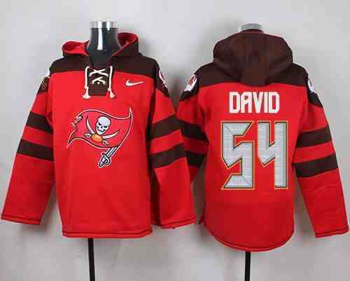 Nike Buccaneers 54 Lavonte David Red Hooded Jersey