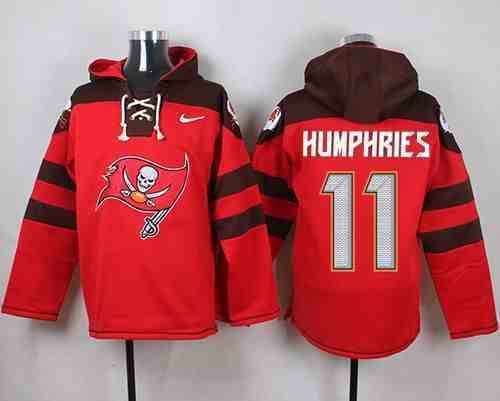 Nike Buccaneers 11 Adam Humphries Red Hooded Jersey