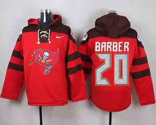Nike Buccaneers 20 Ronde Barber Red Hooded Jersey