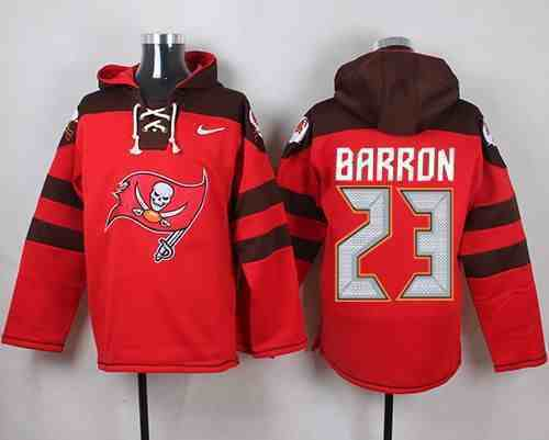 Nike Buccaneers 23 BARRON Red Hooded Jersey