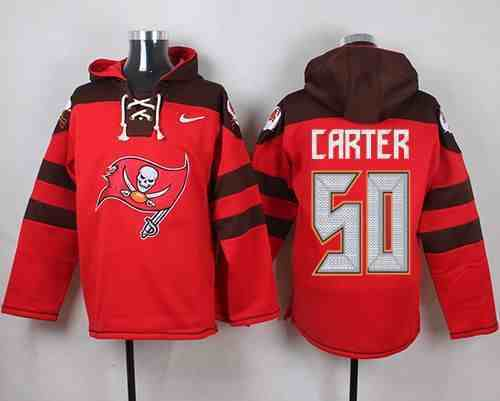 Nike Buccaneers 50 Bruce Carter Red Hooded Jersey