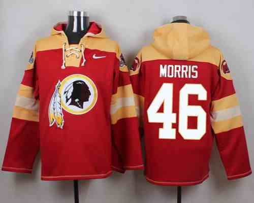Nike Redskins 46 Alfred Morris Red Hooded Jersey