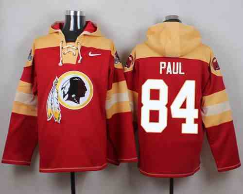 Nike Redskins 84 Niles Paul Red Hooded Jersey