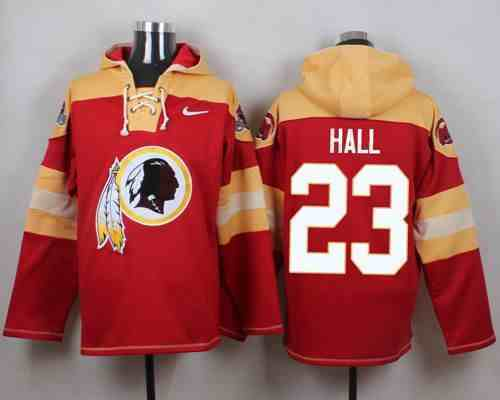 Nike Redskins 23 DeAngelo Hall Red Hooded Jersey
