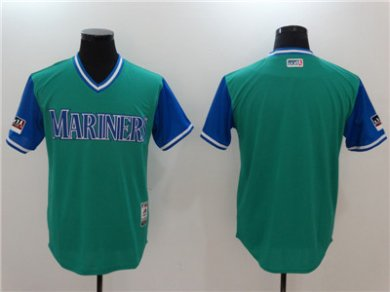 Mariners Aqua 2018 Players Weekend Authentic Team Jersey