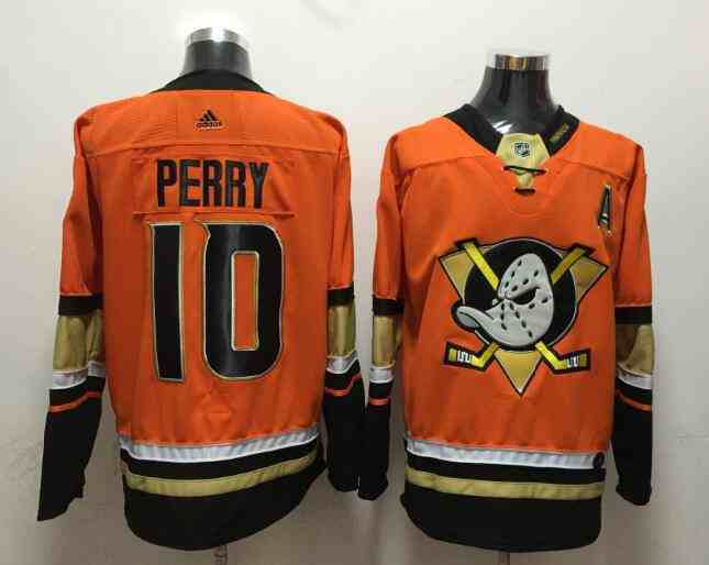 Ducks 10 Corey Perry Orange Adidas Jersey
