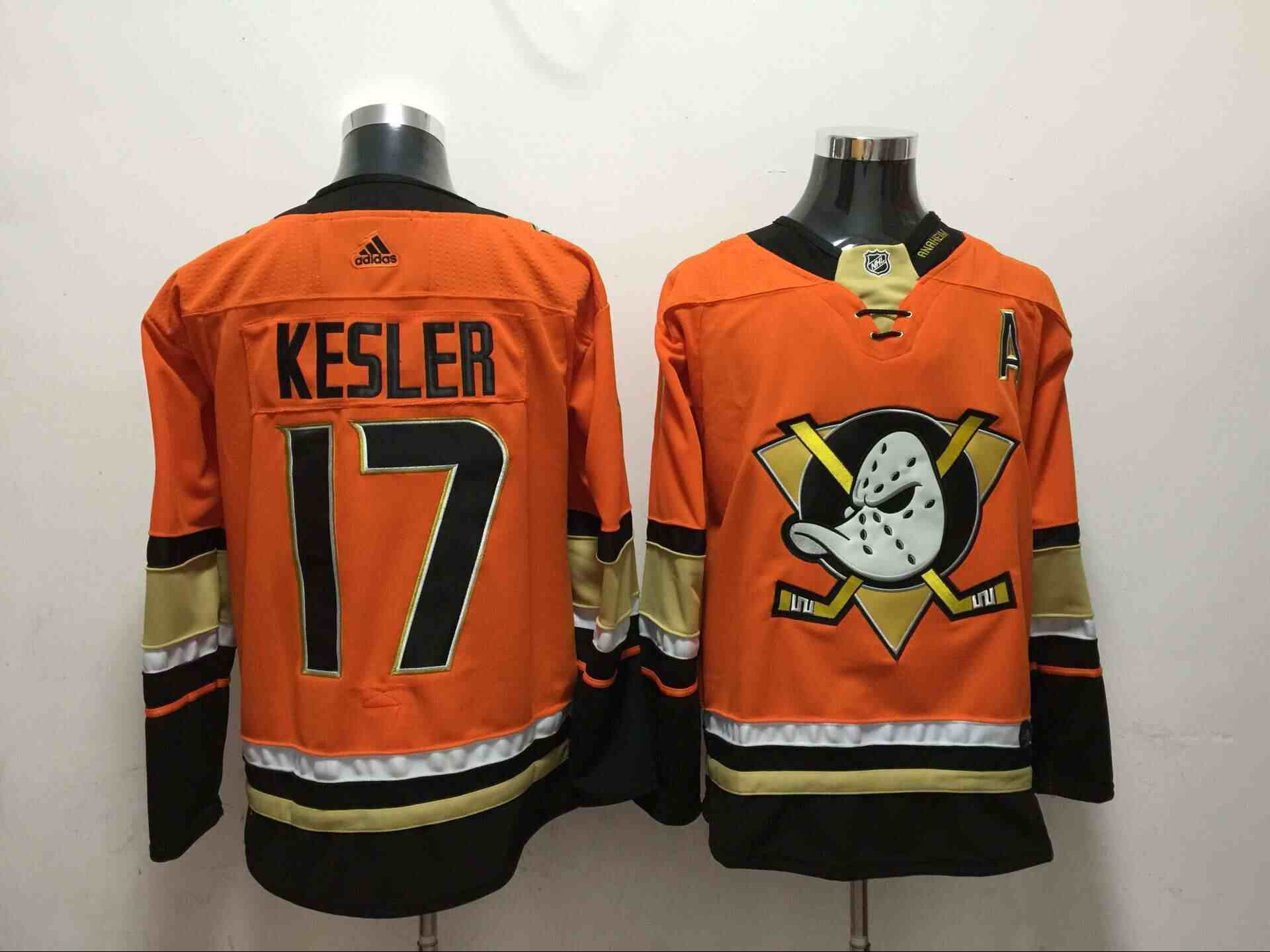 Ducks 17 Ryan Kesler Orange Adidas Jersey