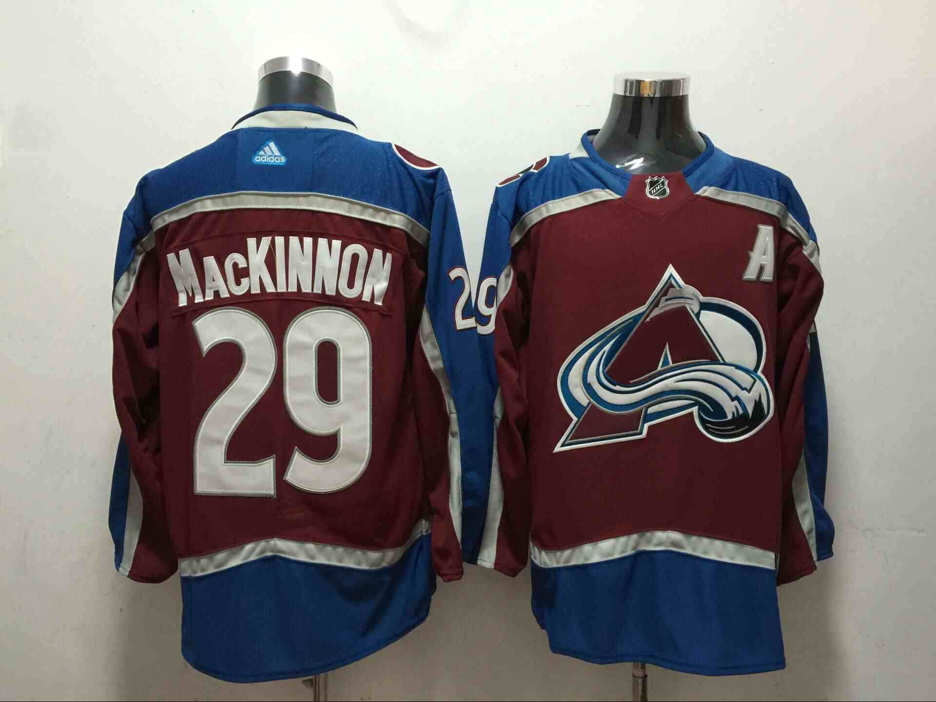 Avalanche 29 Nathan MacKinnon Red Adidas Jersey