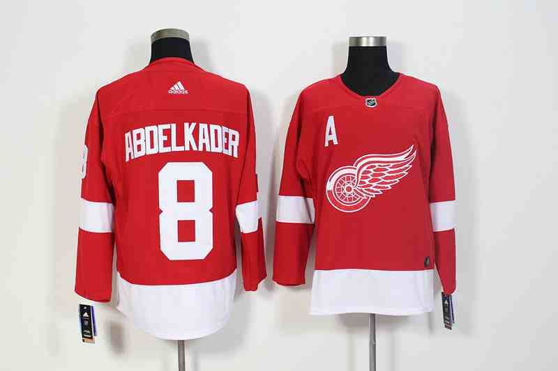 Red Wings 8 Justin Abdelkader Red Adidas Jersey