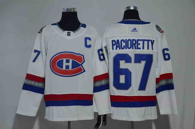 Canadiens 67 Max Pacioretty White 2017 NHL 100 Classic Adidas Jersey