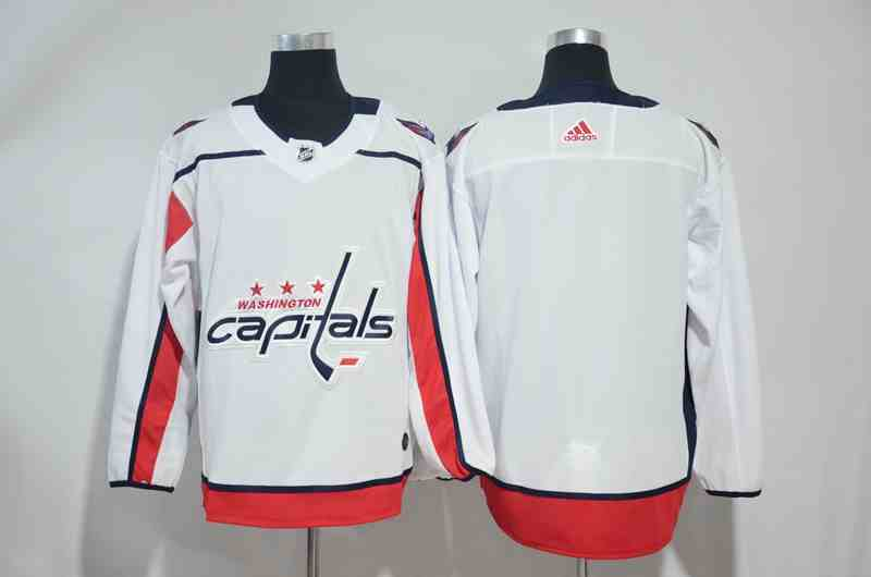 Capitals Blank White Adidas Jersey