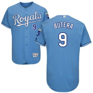 Royals #9 Drew Butera Light Blue Flexbase Authentic Collection Stitched Baseball Jersey
