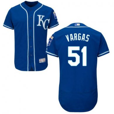Royals #51 Jason Vargas Royal Blue Flexbase Authentic Collection Stitched MLB Jersey