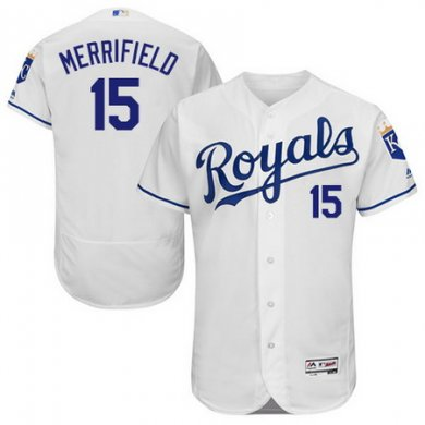 Royals #15 Whit Merrifield White Flexbase Authentic Collection Stitched Baseball Jersey