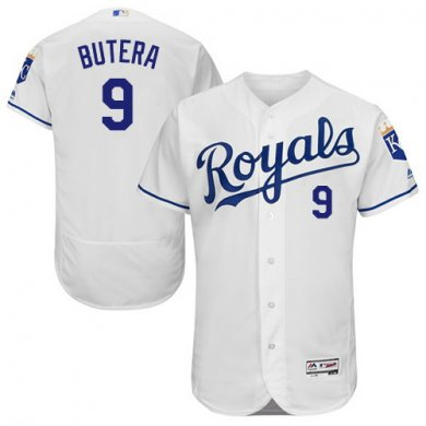 Royals #9 Drew Butera White Flexbase Authentic Collection Stitched Baseball Jersey