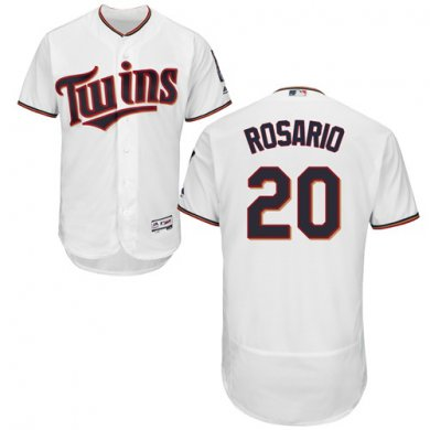 Twins #20 Eddie Rosario White Flexbase Authentic Collection Stitched Baseball Jersey