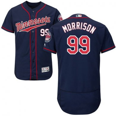 Twins #99 Logan Morrison Navy Blue Flexbase Authentic Collection Stitched Baseball Jersey