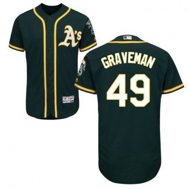 Athletics #49 Kendall Graveman Green Flexbase Authentic Collection Stitched Baseball Jersey