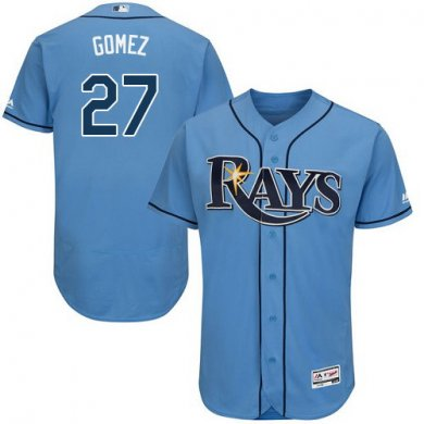 Rays #27 Carlos Gomez Light Blue Flexbase Authentic Collection Stitched Baseball Jersey