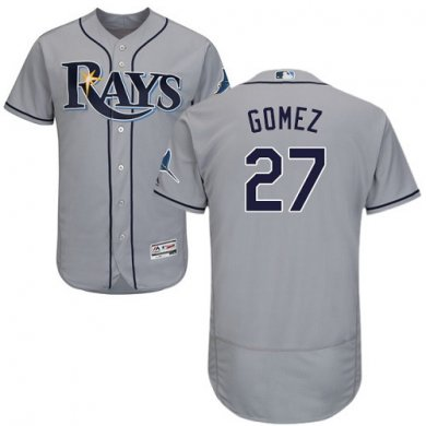 Rays #27 Carlos Gomez Grey Flexbase Authentic Collection Stitched Baseball Jersey