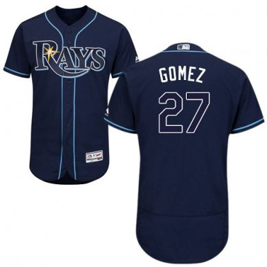 Rays #27 Carlos Gomez Dark Blue Flexbase Authentic Collection Stitched Baseball Jersey