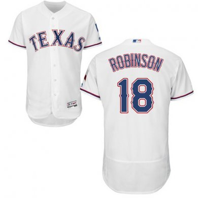 Rangers #18 Drew Robinson White Flexbase Authentic Collection Stitched Baseball Jersey