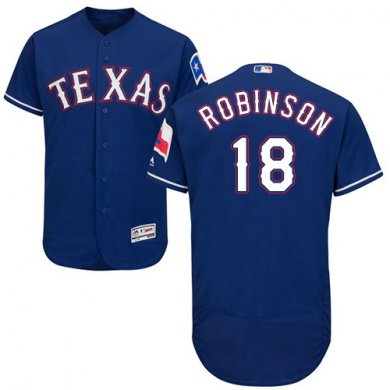 Rangers #18 Drew Robinson Blue Flexbase Authentic Collection Stitched Baseball Jersey
