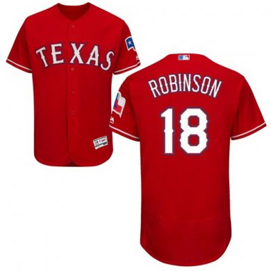 Rangers #18 Drew Robinson Red Flexbase Authentic Collection Stitched Baseball Jersey