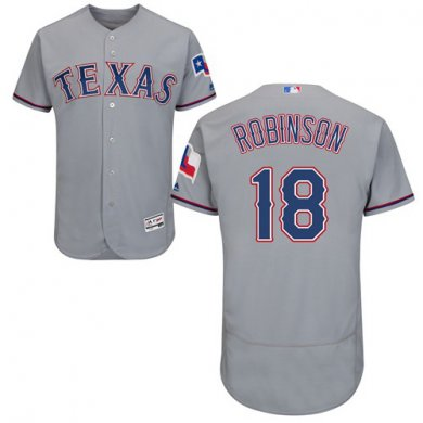Rangers #18 Drew Robinson Grey Flexbase Authentic Collection Stitched Baseball Jersey