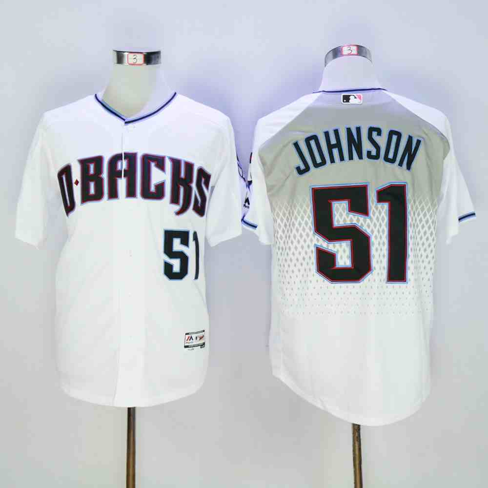 Diamondbacks 51 Randy Johnson White Teal Flexbase Jersey