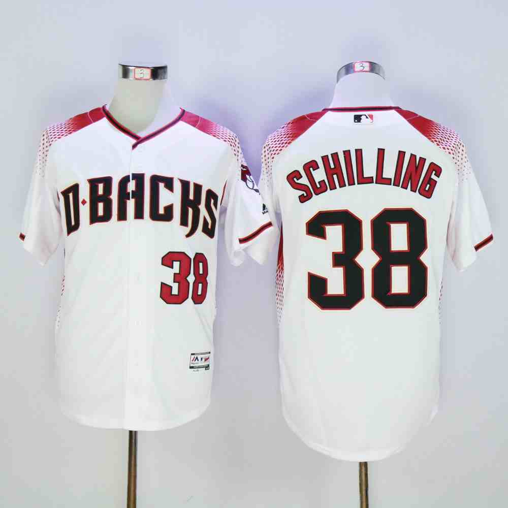 Diamondbacks 38 Curt Schilling White Flexbase Jersey