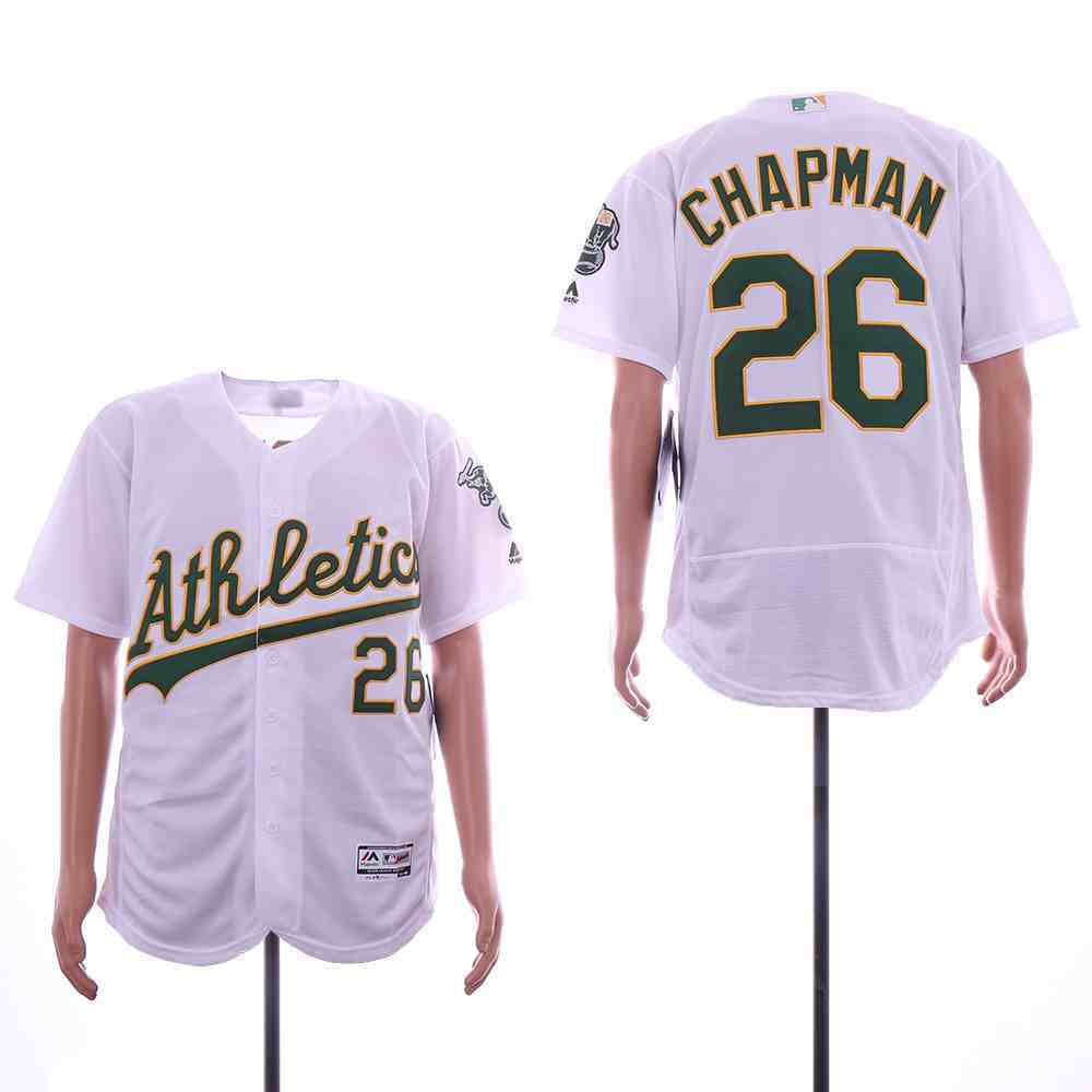 Athletics 26 Matt Chapman White Flexbase Jersey