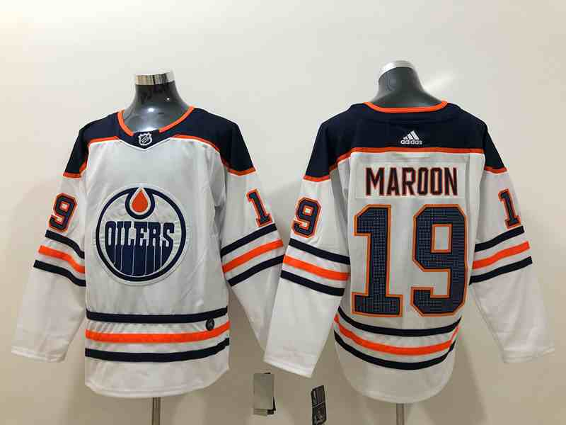 Adidas Oilers 19 Patrick Maroon White Stitched NHL Jersey