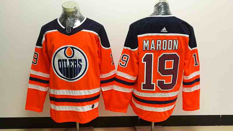 Adidas Oilers 19 Patrick Maroon Orange Stitched NHL Jersey