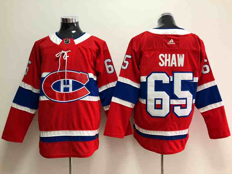Canadiens 65 Shaw Red Adidas Jersey