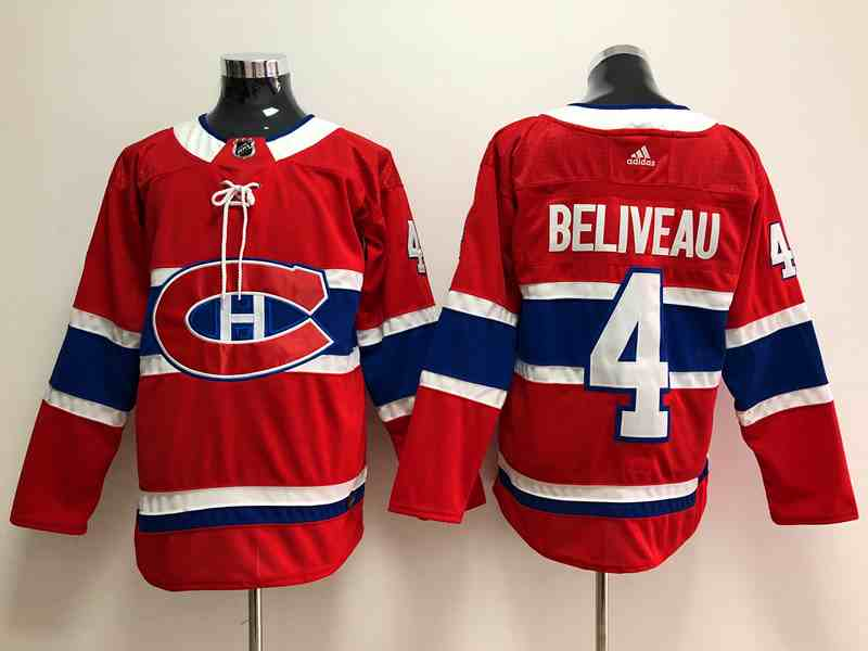 Canadiens 4 Beliveau Adidas Jersey