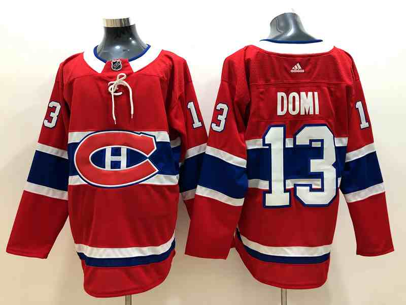 MONTREAL CANADIENS #13 MAX DOMI RED HOME ADIDAS JERSEY