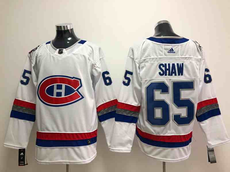 Canadiens 65 Shaw White Adidas Jersey