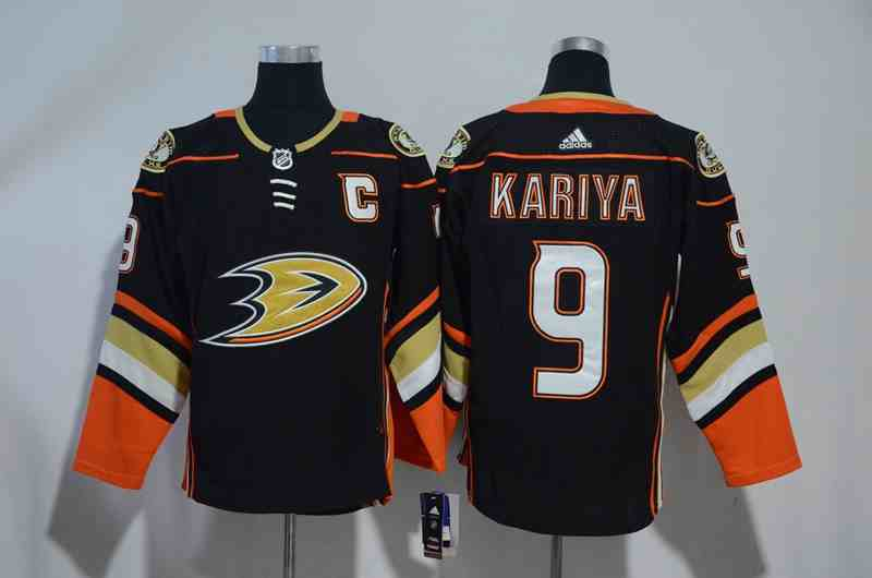 Ducks 9 Paul Kariya Black Adidas Jersey
