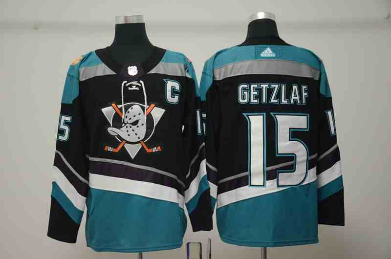 Ducks 15 Ryan Getzlaf Black Alternate Adidas Jersey