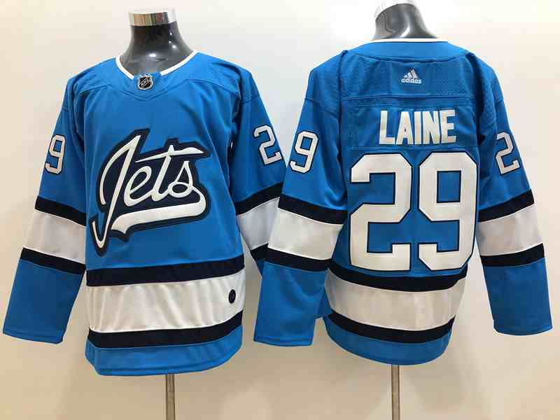Winnipeg Jets 29 Patrik Laine Light Blue Adidas Jersey