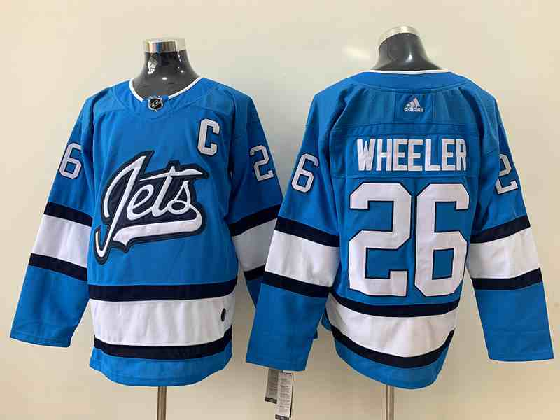 Winnipeg Jets 26 Blake Wheeler Light Blue Adidas Jersey