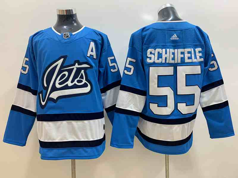 Winnipeg Jets 55 Mark Scheifele Light Blue Adidas Jersey