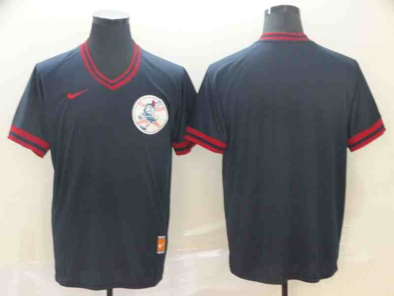 Indians Blank Black Throwback Jersey