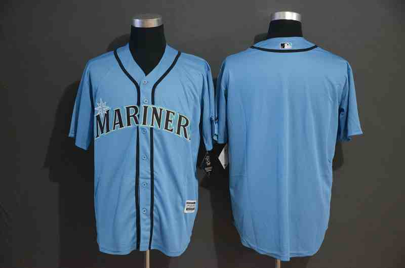 Mariners Blank Blue Cool Base Jersey