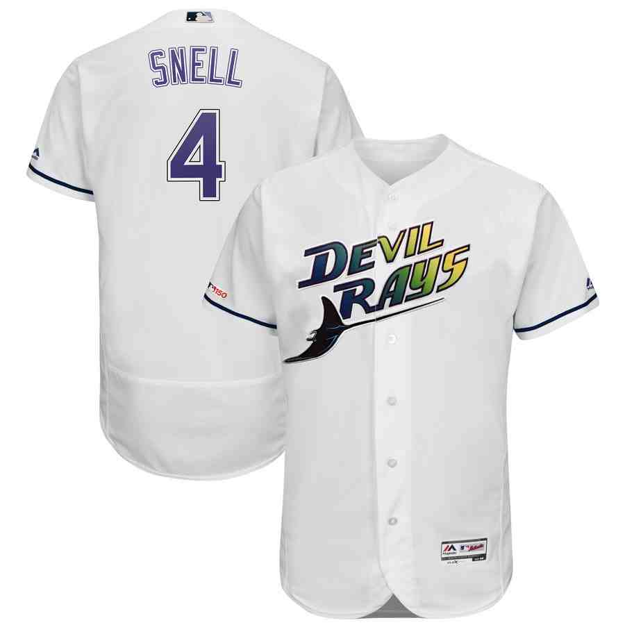 Rays 4 Blake Snell Turn Back The Clock 150th FlexBase Jersey