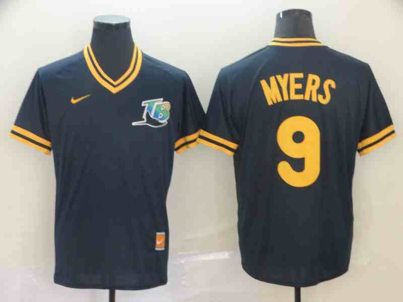 Rays 9 Wil Myers Navy Throwback Jersey