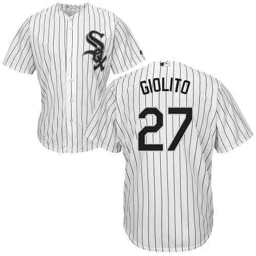 White Sox 27 Lucas Giolito White Cool Base Jersey