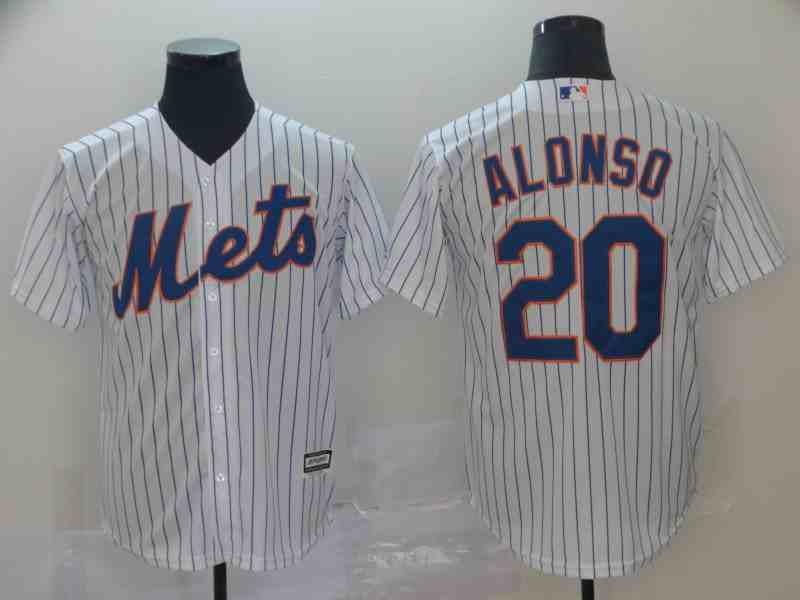 Mets 20 Pete Alonso White Cool Base Jersey